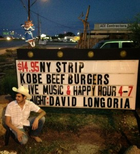 David Longoria on the side of the road